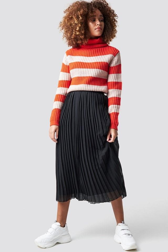 Pink Stripe Knit