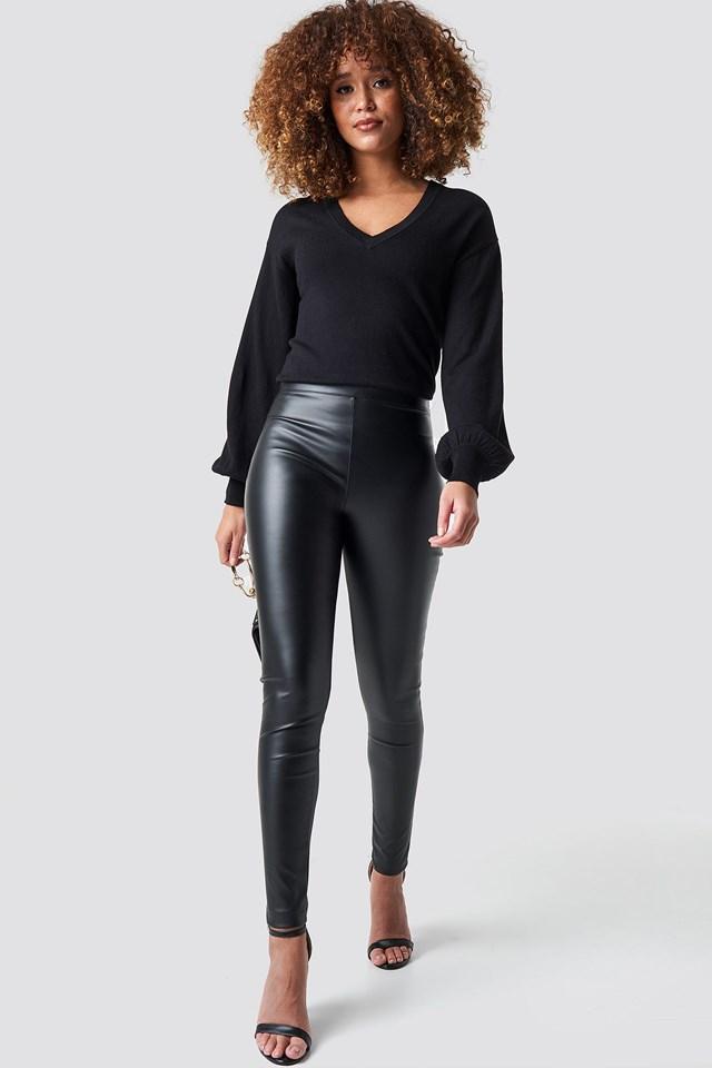 Black V-neck Sweater.