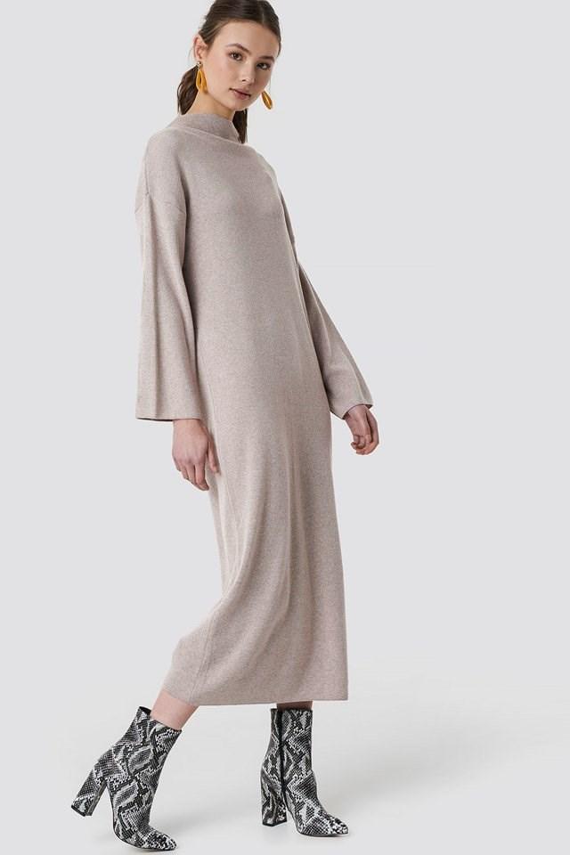 Beige Maxi Dress.