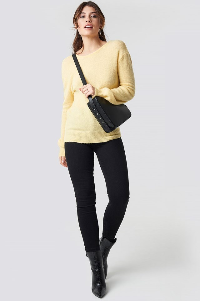 Overlap Knitted Outfit
