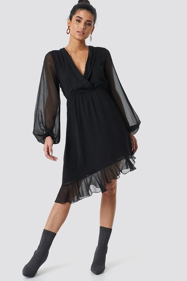 Chiffon Mini Dress Outfit