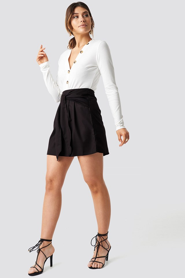 Ribbed Button Top Outfit