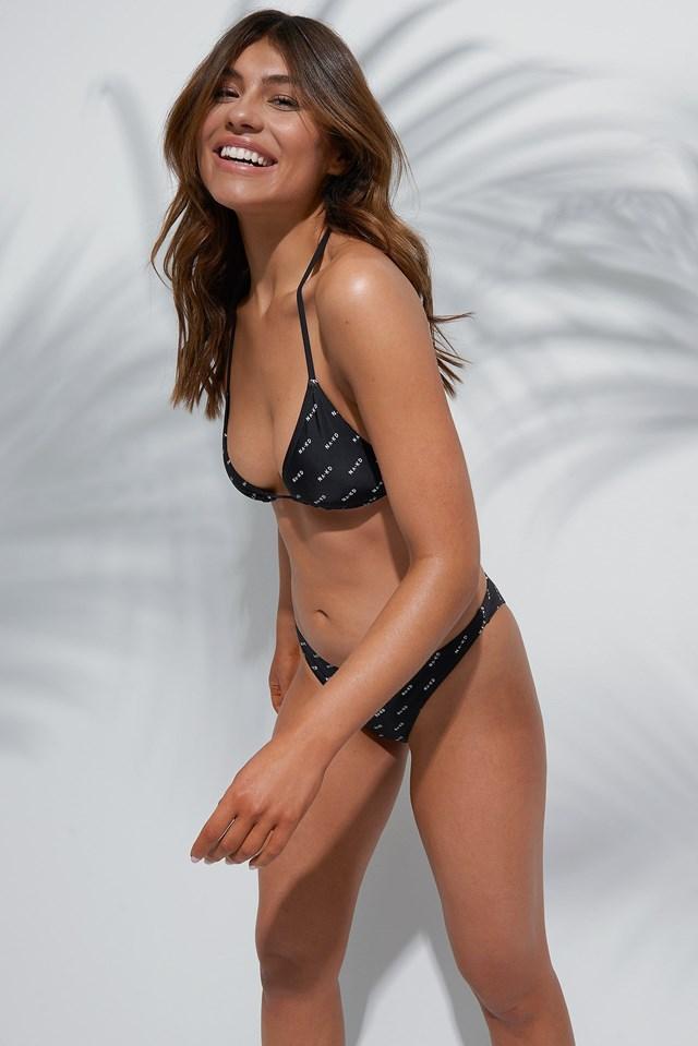 Allover Logo Triangle Bikini Outfit
