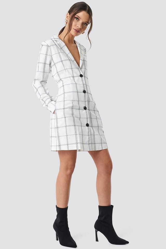 Check Mini Dress Outfit