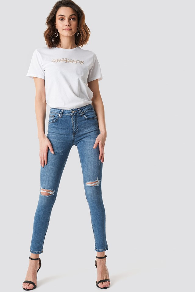 Nudity Tee White Outfit