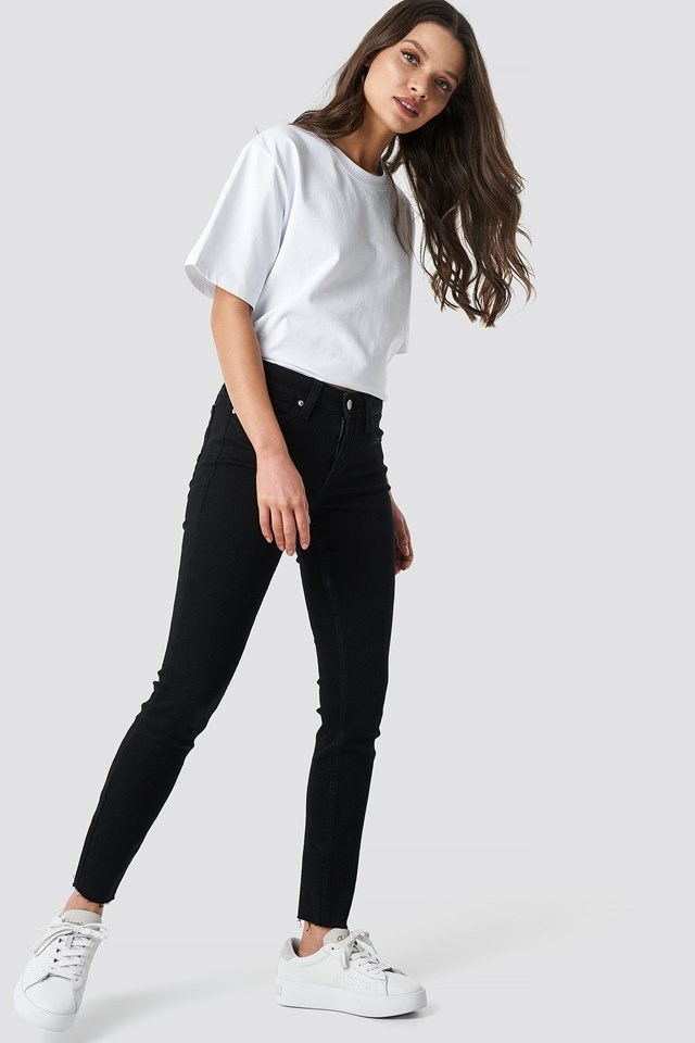 Super Skinny Ankle Jeans Black Outfit
