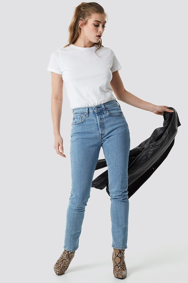 501 Skinny Jeans Blue Outfit