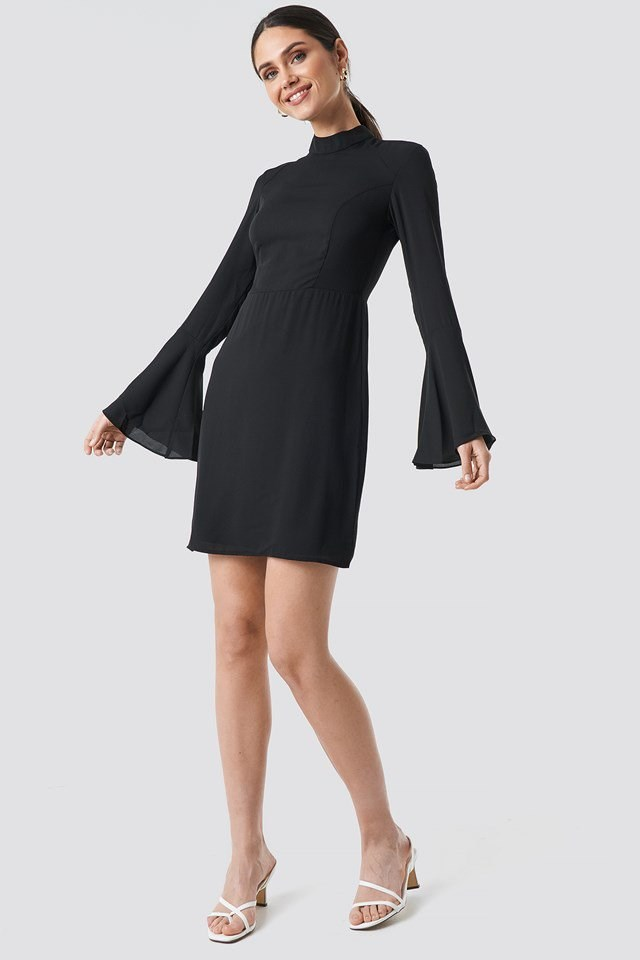 Long Sleeved Mini Dress Outfit