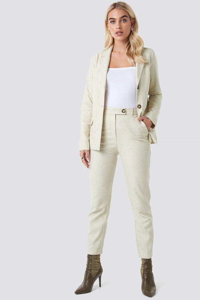 Oversized Linen Look Blazer