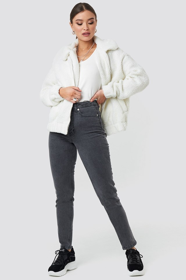 Teddy Bomber Jacker Outfit