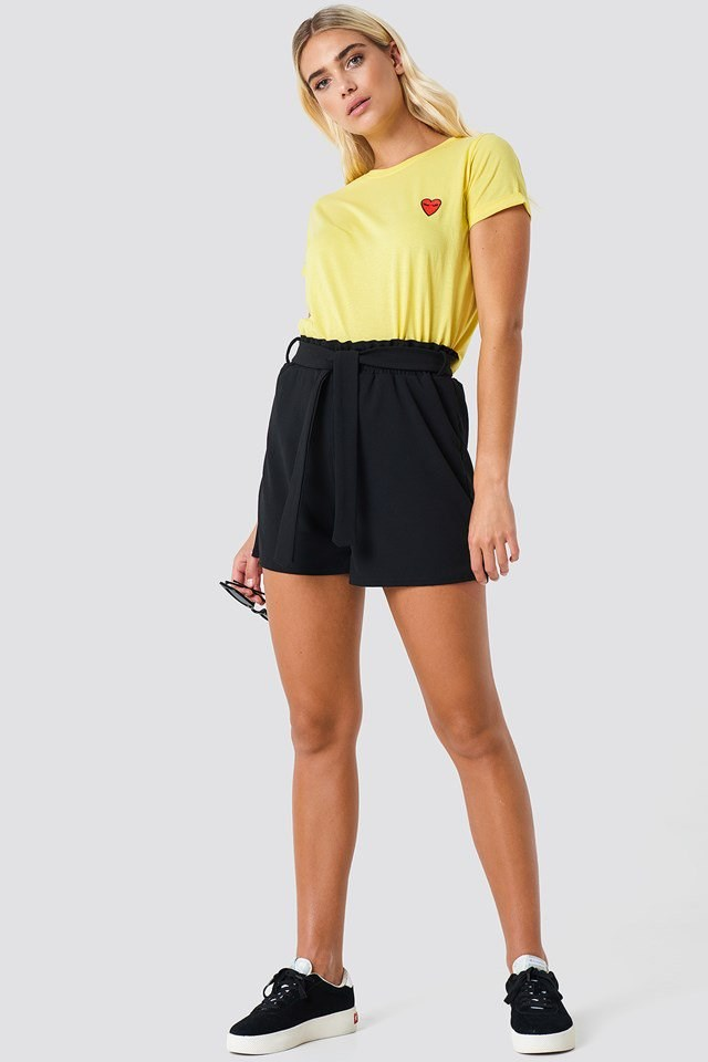 High Waisted Shorts Outfit