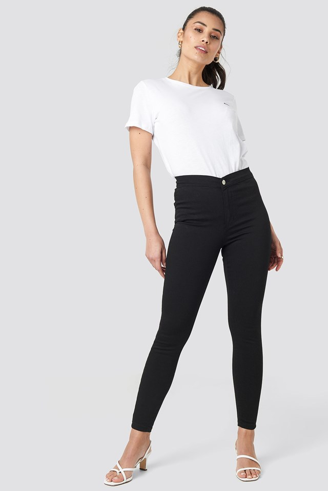 High Waist Jeggings Outfit