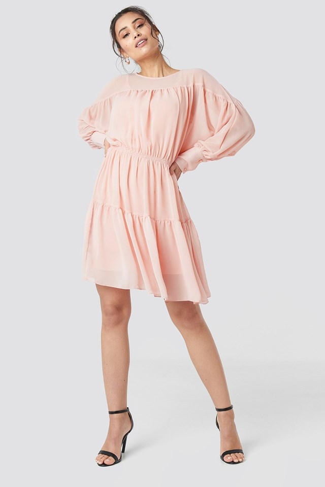 Yol Pleated Mini Dress Outfit.