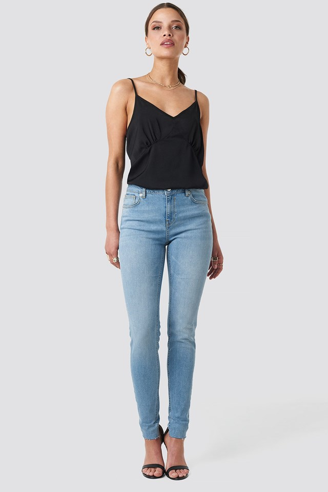 Low Rise Turn Up Skinny Jeans Outfit.