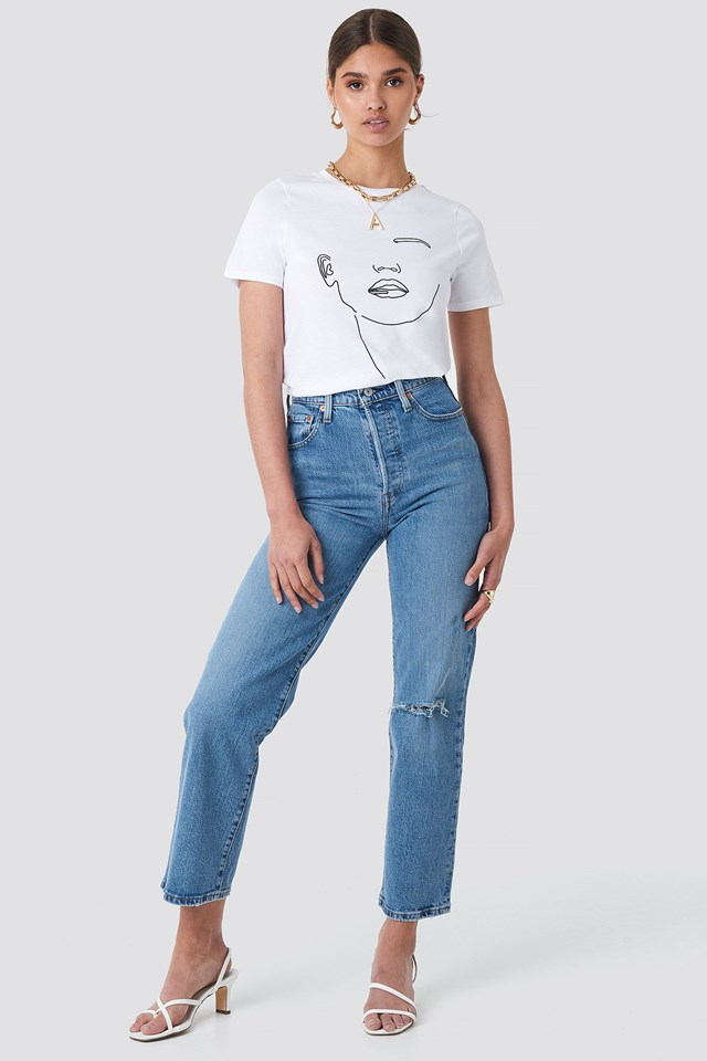 Abstract T-shirt Outfit.