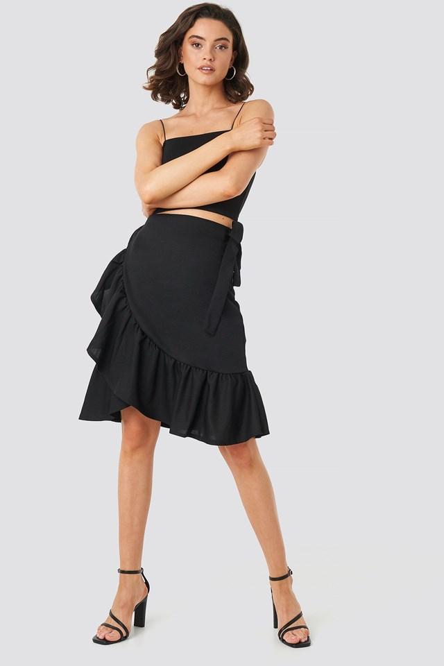 Yol Midi Skirt Black Outfit