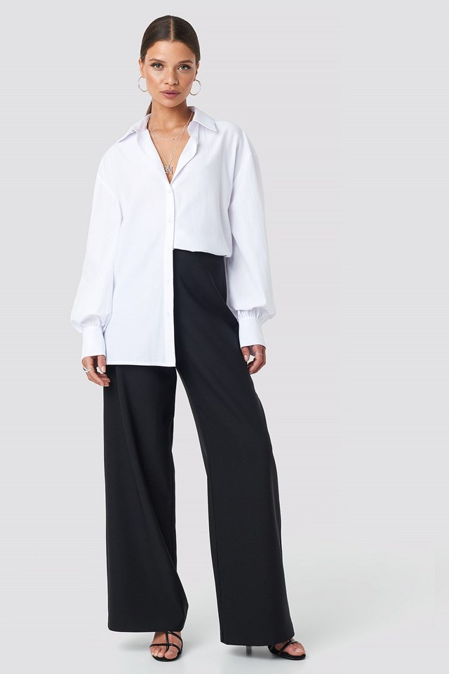 Oversized Shirt White Outfit