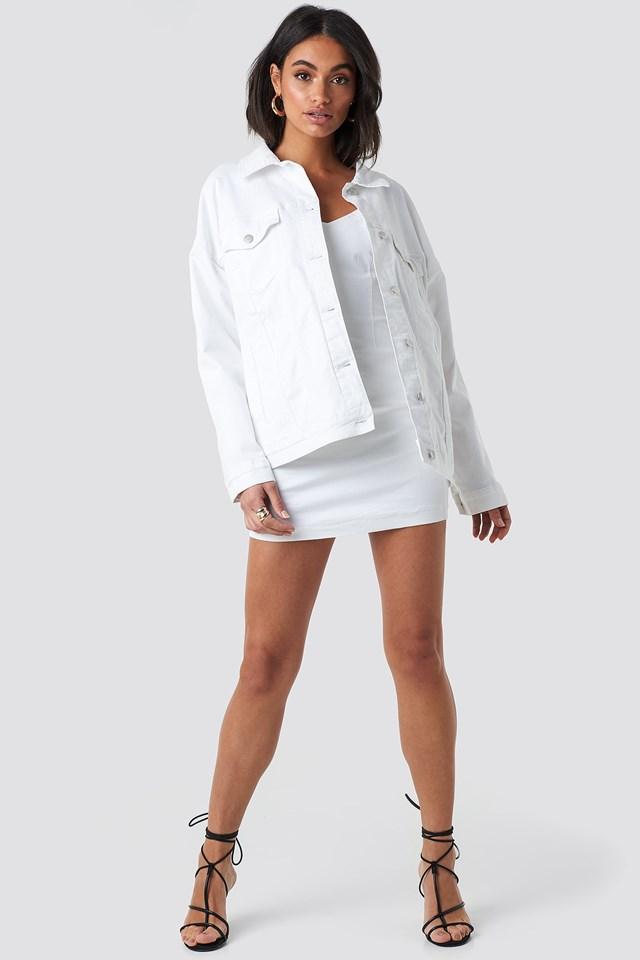Oversized Denim Jacket White Outfit
