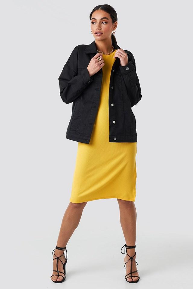 Oversized Denim Jacket Black Outfit