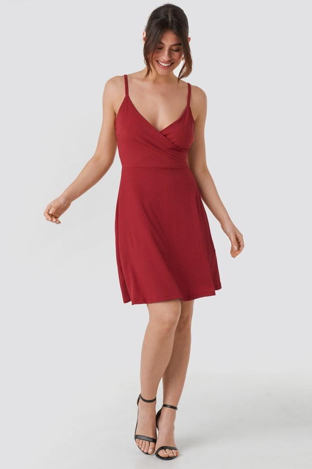 Double Breasted Ruched Mini Dress Red Outfit