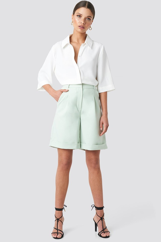 Short Sleeve Shirt White Outfit
