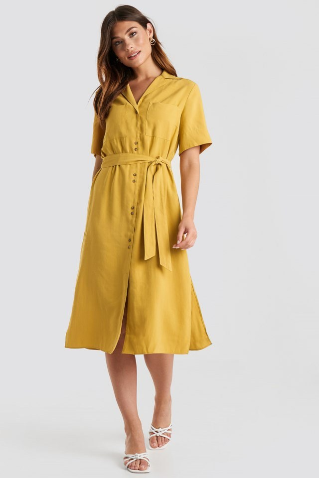 Odena Dress Yellow Outfit