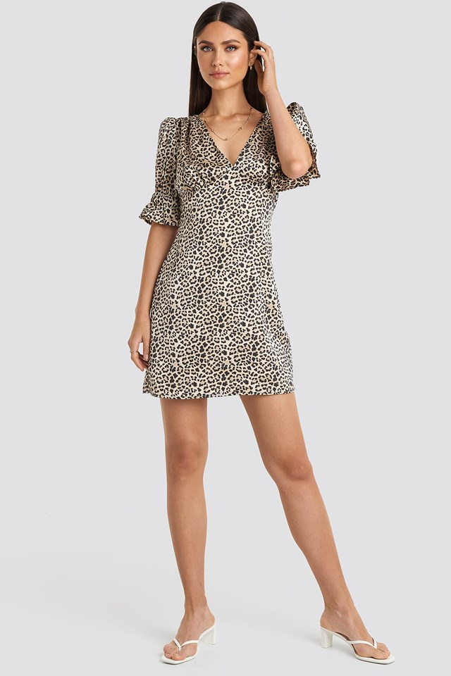 Puff Mini Dress Multicolor Outfit