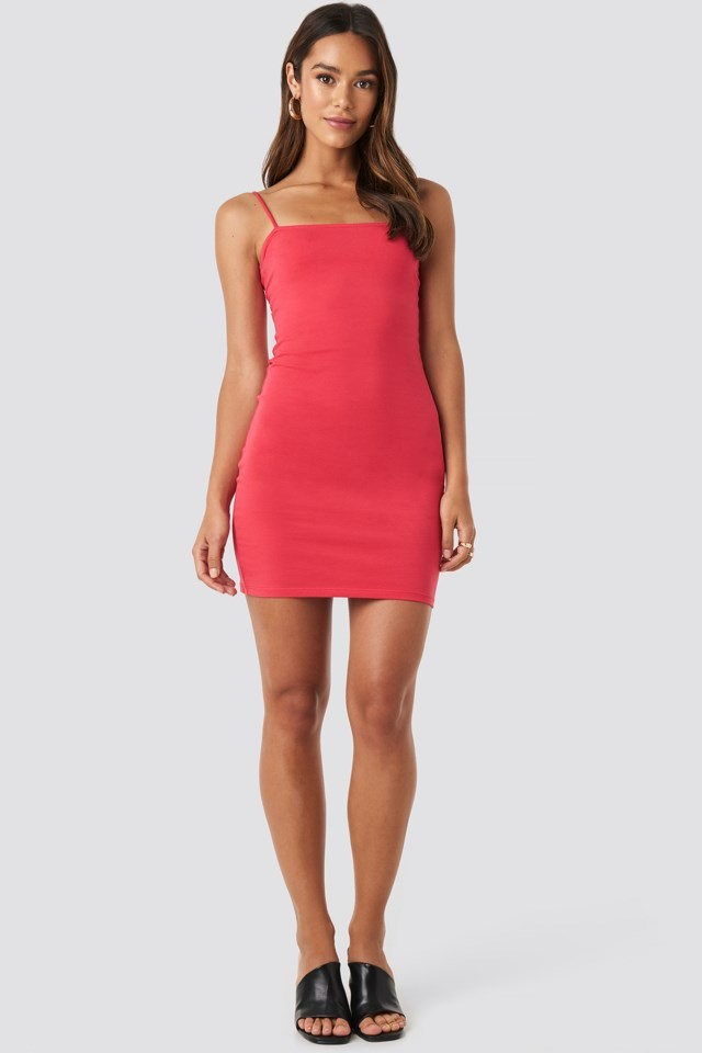 Bandeau Cami Mini Dress Red Outfit