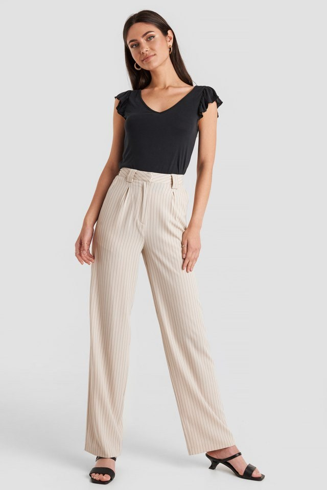 Modal Flounce top Black Outfit