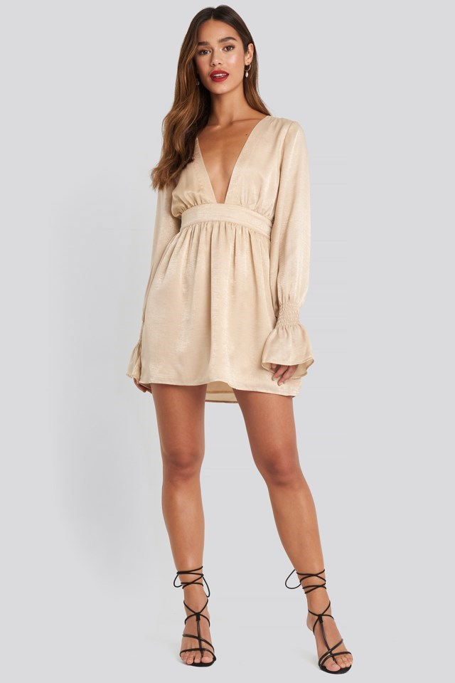 Deep Front Mini Dress Outfit