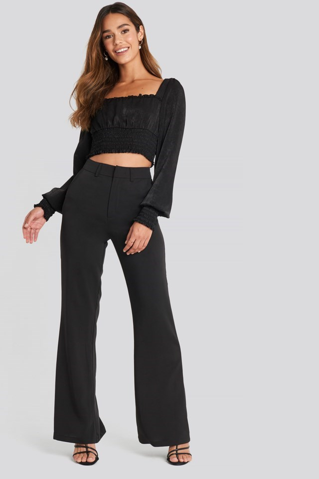 Cropped Ruffle Top Outfit