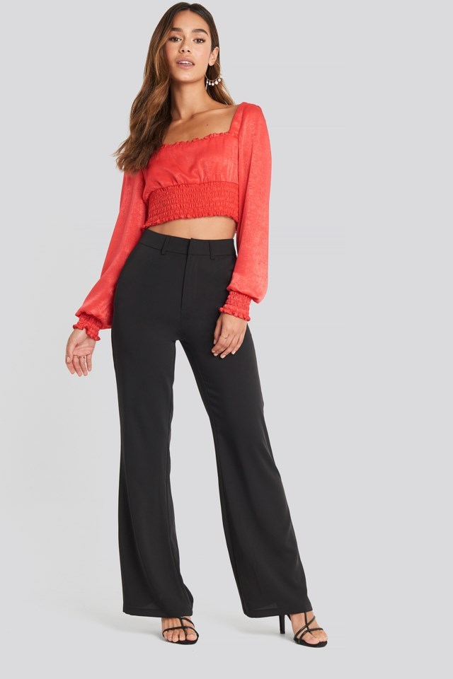 High Waist Flared Leg Suit Pants Outfit