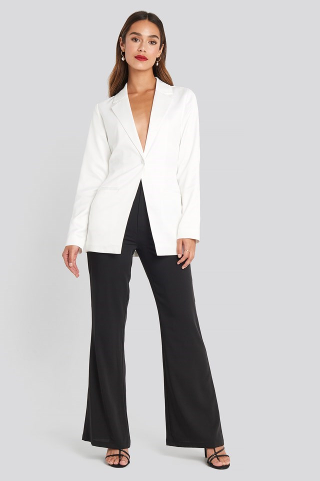 Shiny Fitted Blazer Outfit
