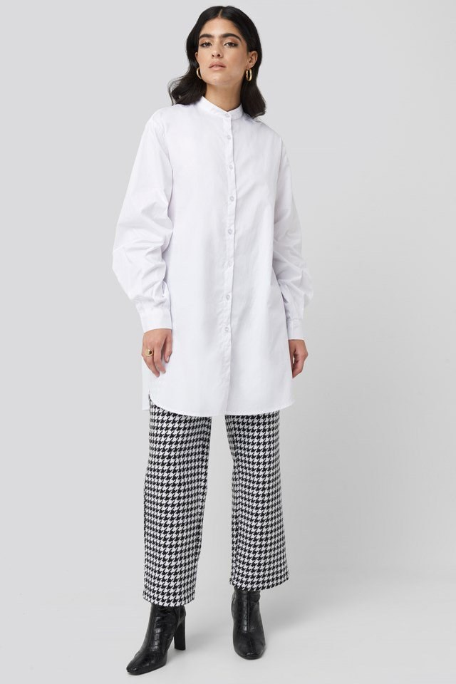 Oversized Cotton Shirt Dress Outfit