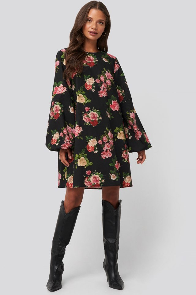 Volume LS Mini Dress Look