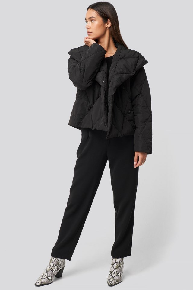 Quilted Short Padded Jacket Look