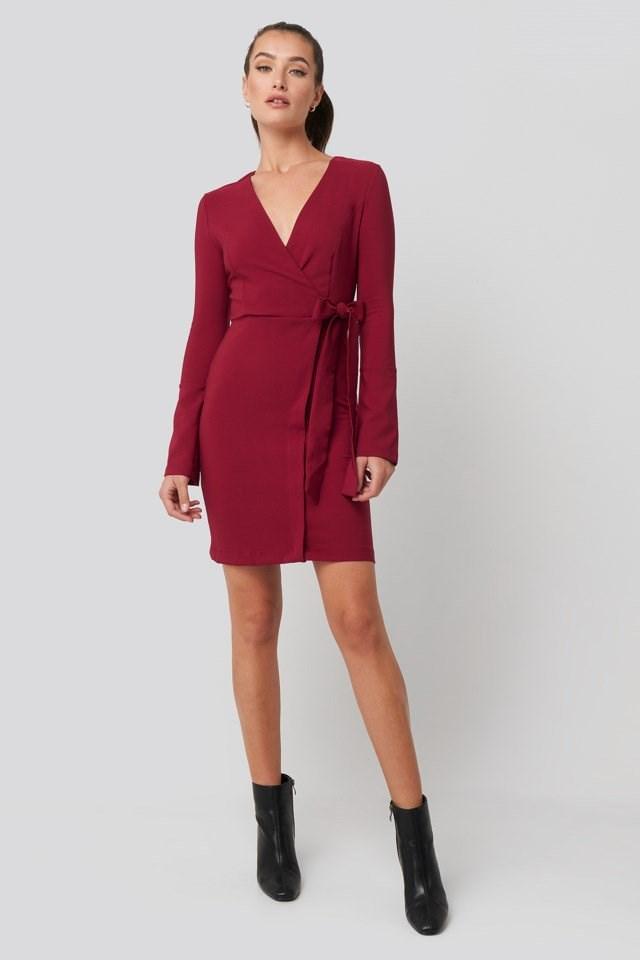 Overlap Mini Dress Outfit.