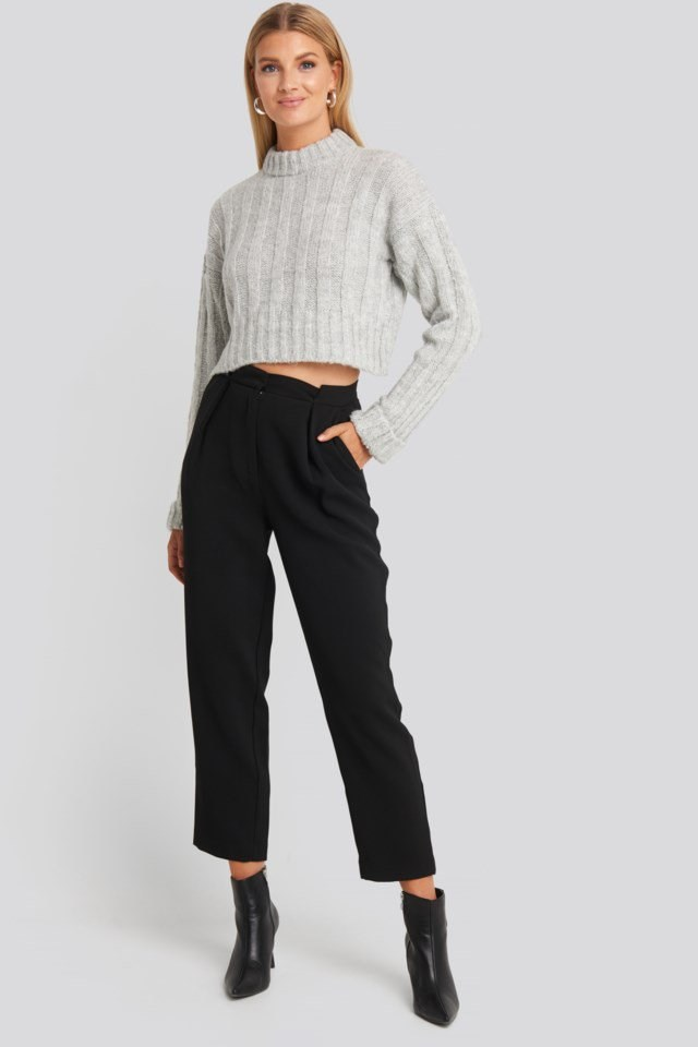 Crop Sweater Outfit.