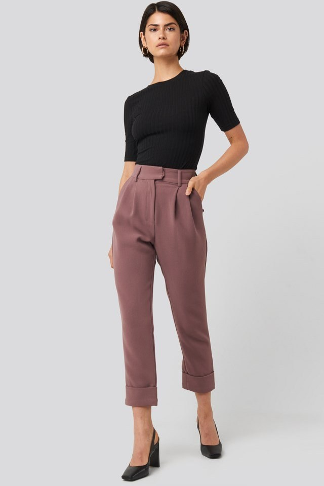 Folded Cigarette Suit Pants Outfit