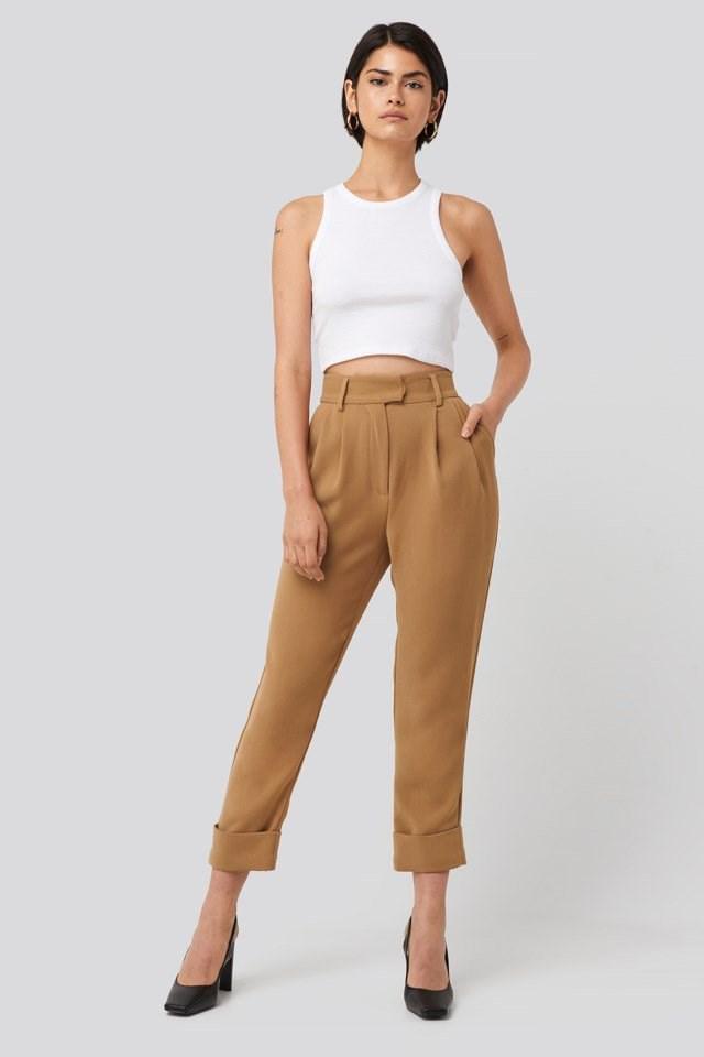 Folded Cigarette Suit Pants Outfit