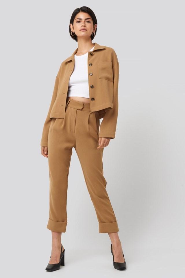 Short Pocket Overshirt Outfit