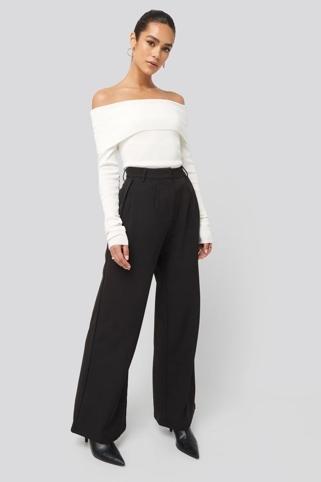 Flowy Tailored Pants Outfit.