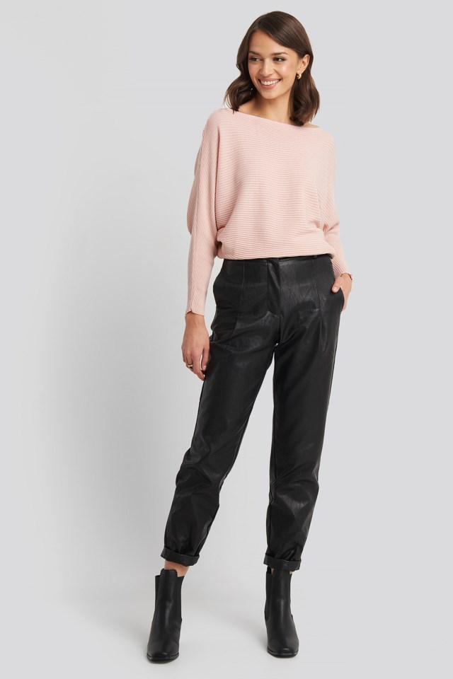 Bat Sleeve Sweater Outfit