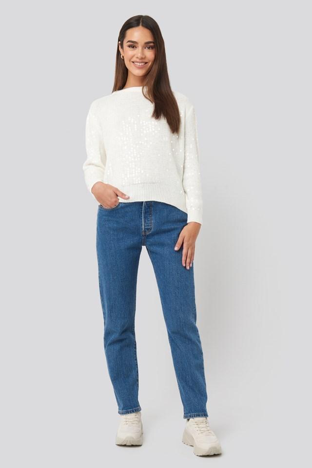 Sequin Sweater Look