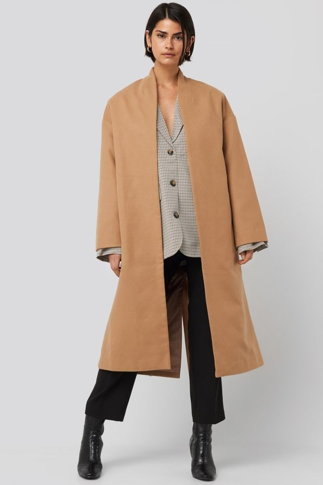 Classic Long Coat Beige Outfit