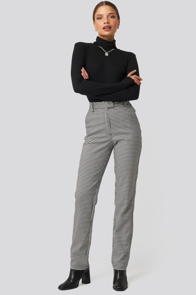 Checked Pants Multicolor Outfit