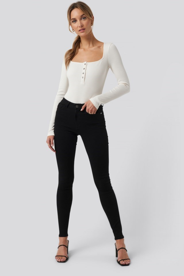 High Waist Skinny Fit Jeans Outfit