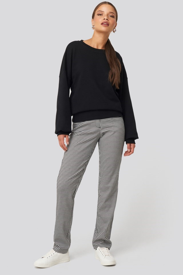 Drop Shoulder Sweater Look