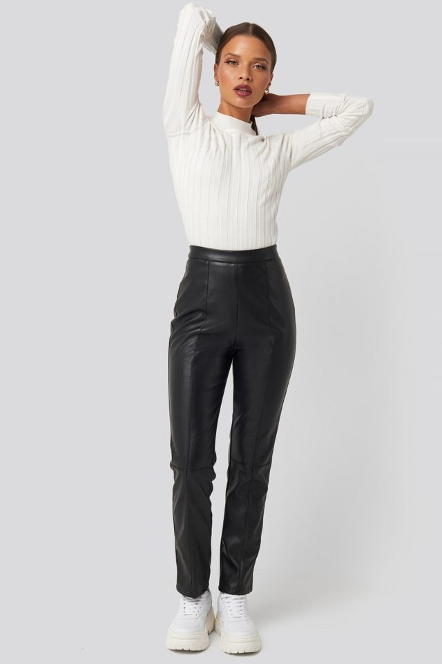 PU Leather Pants Look