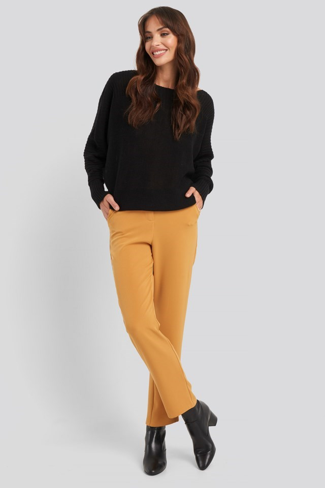 High Waist Suit Trousers Outfit